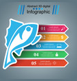 fish color infographic with paper arrows vector image vector image