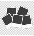 five Retro blank photography vector image vector image