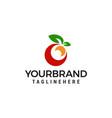 fruit logo design concept template vector image