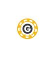 gear g logo template icon design vector image