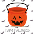 Happy halloween design vector image vector image