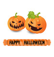 happy halloween poster happy halloween poster vector image vector image