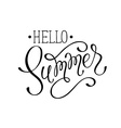 Hello summer wording vector image vector image