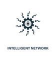 intelligent network icon premium style design vector image