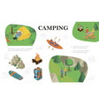 isometric outdoor recreation composition vector image vector image