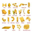 Italian pasta isolated icon set for food design vector image