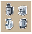kitchenware stickers vector image vector image