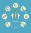 leadership concept concept vector image vector image
