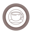 logo emblem decorative of cup of coffee with vector image