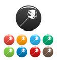 lollipop icons set color vector image