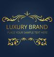 luxury brand gold text template vine design vector image