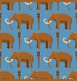 mammoth mammal animal character with tusk vector image
