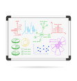 Marker board infographic charts vector image vector image