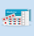 medical elements set icons vector image vector image