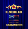 memorial day background art vector image