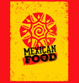 mexican food logo design template vector image vector image