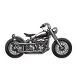 monochrome classic motorcycle vector image vector image
