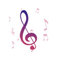 music notes melody symbol background vector image vector image