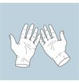 open hands vector image vector image
