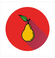 Pear simple icon on white background