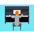 Pianist Piano Player Concept Character Flat Design vector image vector image