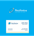 planet logo design with business card template vector image