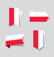 polish flag stickers and labels vector image vector image