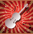 retro music background with violin and notes vector image vector image