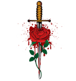rose and dagger vector image
