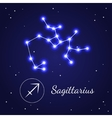 Sagittariuseps Zodiac Sign Stars on the Cosmic Sky vector image