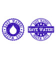 save water grunge stamp seals vector image vector image
