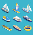 sea activities set vector image vector image