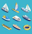 sea activities set vector image