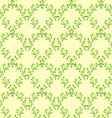 Seamless floral pattern green leaves vector image vector image