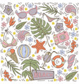 seamless pattern with summer hand draw vector image vector image