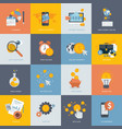 set flat design concept icons for finance vector image