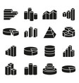 set of financial icons line style vector image vector image