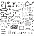 Set of sketched social and digital icons