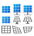 set of solar panels in many style vector image vector image