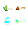 set of spa logos vector image vector image