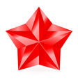 Shiny RED star 05 vector image vector image