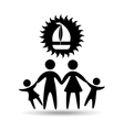 silhouette family vacation sail a boat vector image vector image