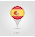 Spanish flag pin map icon vector image vector image