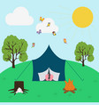 summer camping vector image vector image