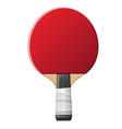 table tennis rocket with ball ping pong vector image