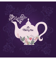 Teapot with berries vector image