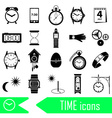 time theme modern simple icons set eps10 vector image vector image