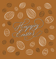 traditional happy easter background vector image vector image