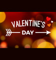 valentine bokeh background banner love abstract vector image