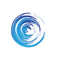 wave business logo vector image vector image